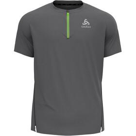 Odlo Axalp Trail T-Shirt S/S 1/2 Zip Men, szary